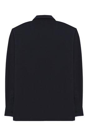 Детская хлопковая рубашка ALETTA синего цвета, арт. AMC000642ML/4A-8A | Фото 2 (Рукава: Длинные; Материал внешний: Хлопок; Случай: Повседневный; Ростовка одежда: 6 лет | 116 см, 7 лет | 122 см, 8 лет | 128 см)