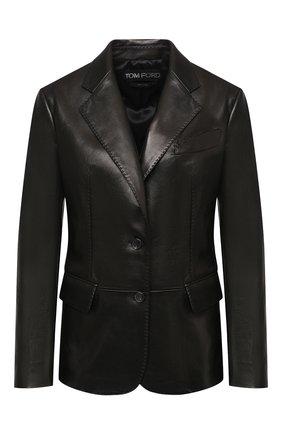 Женский кожаный жакет TOM FORD черного цвета, арт. GIL449-LEX228 | Фото 1