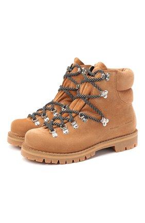 Женские замшевые ботинки PROENZA SCHOULER бежевого цвета, арт. PS35083A/12105 | Фото 1