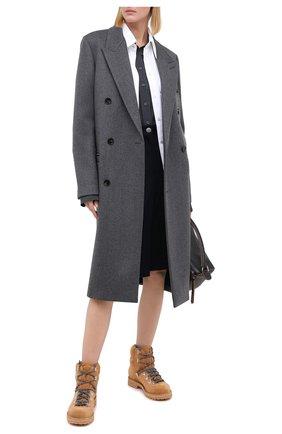 Женские замшевые ботинки PROENZA SCHOULER бежевого цвета, арт. PS35083A/12105 | Фото 2