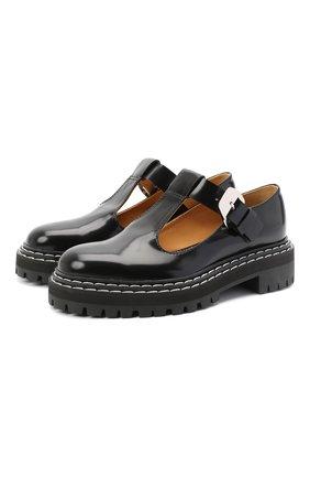 Женские кожаные туфли PROENZA SCHOULER черного цвета, арт. PS35110A/12130 | Фото 1