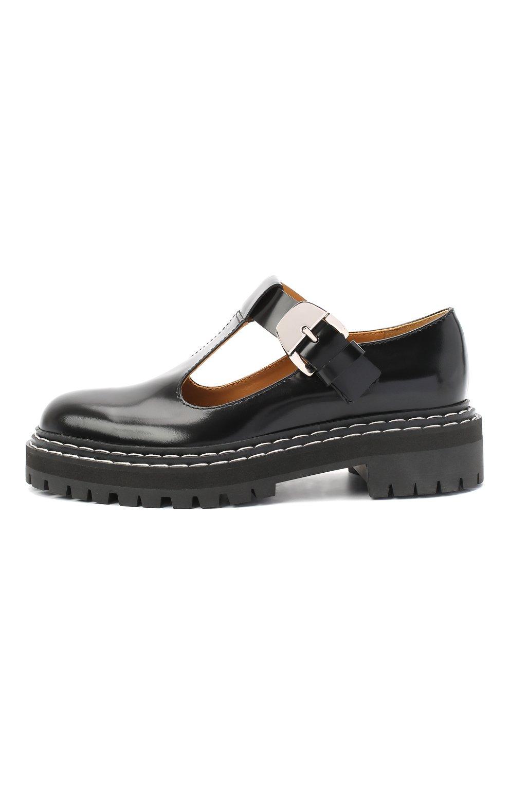 Женские кожаные туфли PROENZA SCHOULER черного цвета, арт. PS35110A/12130 | Фото 3