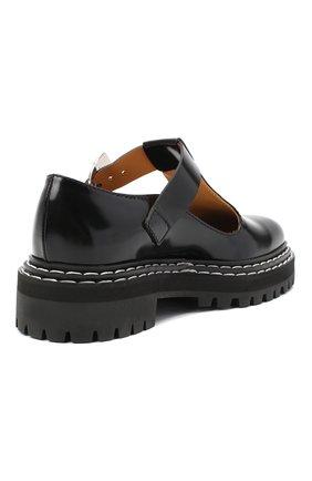 Женские кожаные туфли PROENZA SCHOULER черного цвета, арт. PS35110A/12130 | Фото 4
