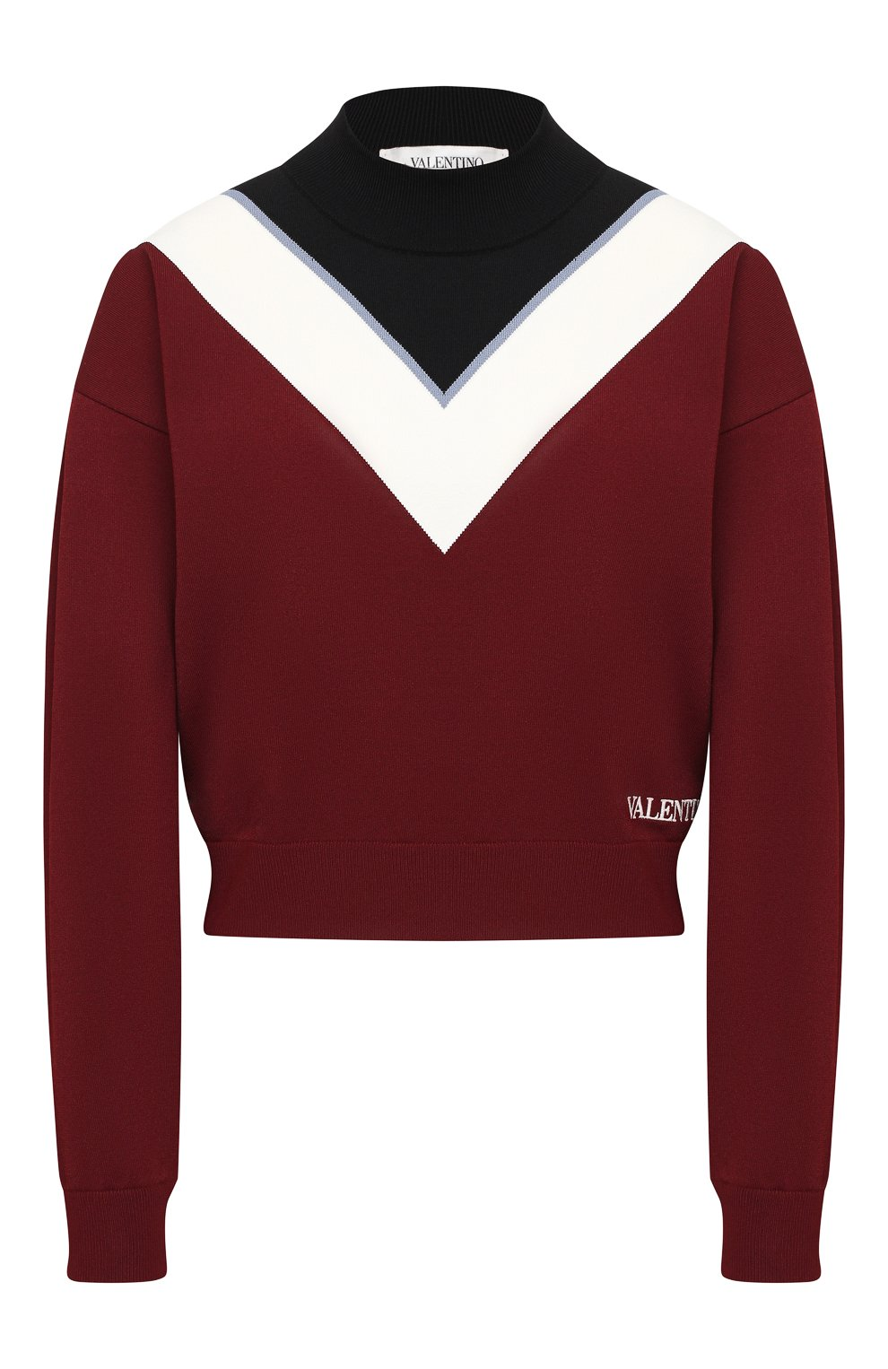 Женский пуловер из вискозы VALENTINO бордового цвета, арт. UB3KC15R5NH | Фото 1