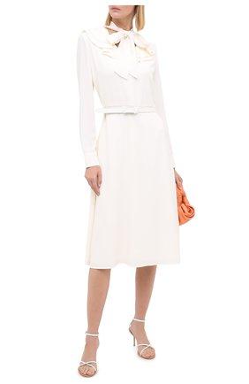 Женское платье с поясом RALPH LAUREN кремвого цвета, арт. 290815921 | Фото 2