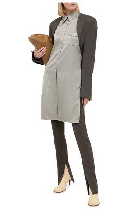 Женские кожаные ботильоны BOTTEGA VENETA светло-бежевого цвета, арт. 610238/VBS00 | Фото 2