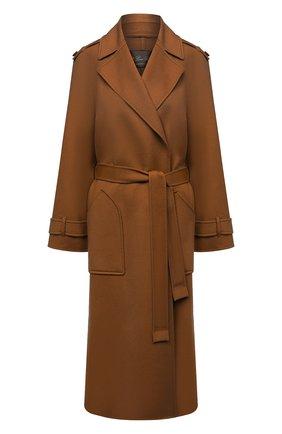 Женское кашемировое пальто LORO PIANA коричневого цвета, арт. FAL2202 | Фото 1