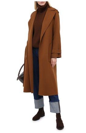 Женское кашемировое пальто LORO PIANA коричневого цвета, арт. FAL2202 | Фото 2