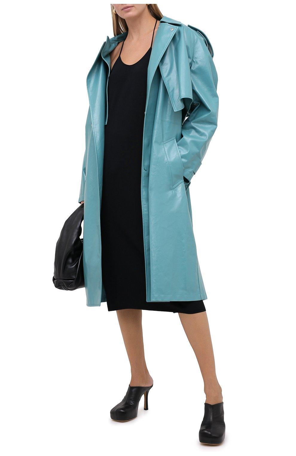 Женские кожаные мюли bv bold BOTTEGA VENETA черного цвета, арт. 630148/VBP40 | Фото 2