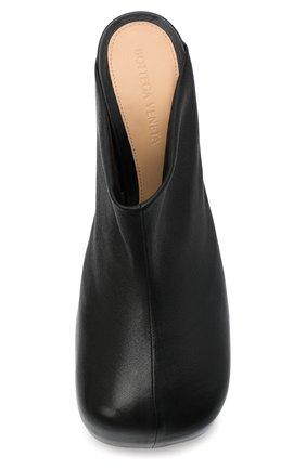 Женские кожаные мюли bv bold BOTTEGA VENETA черного цвета, арт. 630148/VBP40 | Фото 5