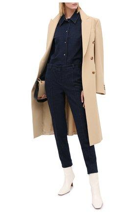 Женские джинсы LORO PIANA темно-синего цвета, арт. FAL3132 | Фото 2