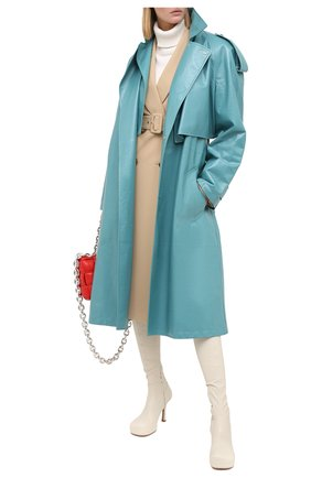 Женские кожаные ботфорты bv bold BOTTEGA VENETA кремвого цвета, арт. 630168/VBP40 | Фото 2