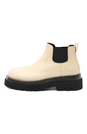 Женские кожаные ботинки bv lug BOTTEGA VENETA светло-бежевого цвета, арт. 634396/VBS50 | Фото 3