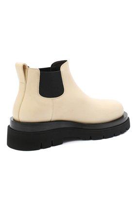 Женские кожаные ботинки bv lug BOTTEGA VENETA светло-бежевого цвета, арт. 634396/VBS50 | Фото 4