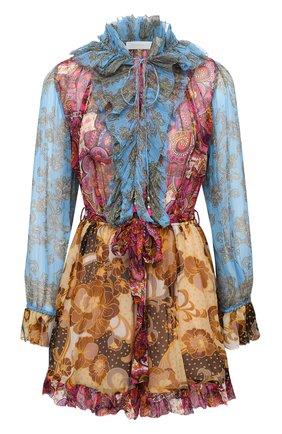 Женский шелковый комбинезон ZIMMERMANN разноцветного цвета, арт. 8680YFIE | Фото 1