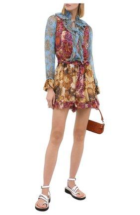 Женский шелковый комбинезон ZIMMERMANN разноцветного цвета, арт. 8680YFIE | Фото 2