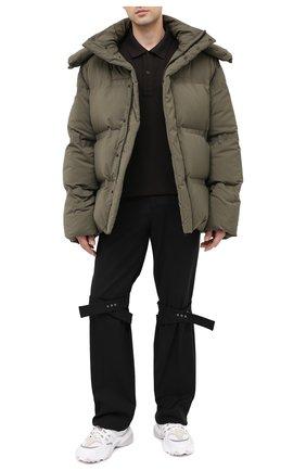 Мужское хлопковое поло BOTTEGA VENETA темно-коричневого цвета, арт. 631006/V01G0 | Фото 2