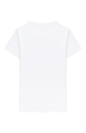 Детская хлопковая футболка BALMAIN белого цвета, арт. 6N8551/NX290/4-10 | Фото 2