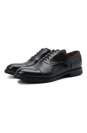 Мужские кожаные оксфорды W.GIBBS черного цвета, арт. 0337003/2280 | Фото 1