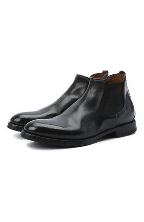Мужские кожаные челси W.GIBBS черного цвета, арт. 0337029/2280 | Фото 1
