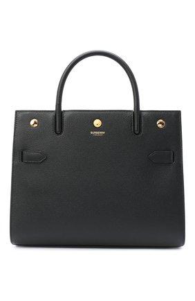 Женская сумка title medium BURBERRY черного цвета, арт. 8024687 | Фото 1 (Материал: Натуральная кожа; Сумки-технические: Сумки top-handle; Размер: medium)