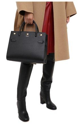 Женская сумка title medium BURBERRY черного цвета, арт. 8024687 | Фото 2 (Материал: Натуральная кожа; Сумки-технические: Сумки top-handle; Размер: medium)