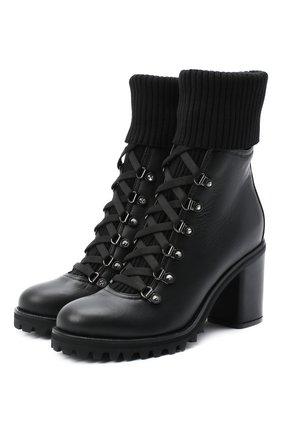 Женские кожаные ботильоны LE SILLA черного цвета, арт. 7406R080M1PPCHI | Фото 1