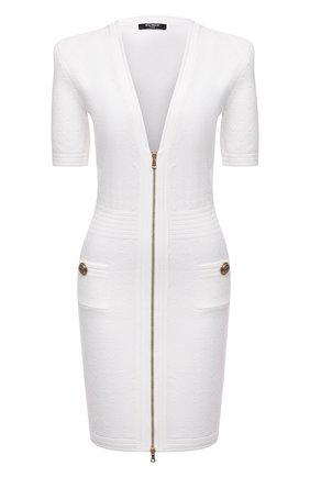 Женское платье из вискозы BALMAIN белого цвета, арт. UF16435/K110   Фото 1