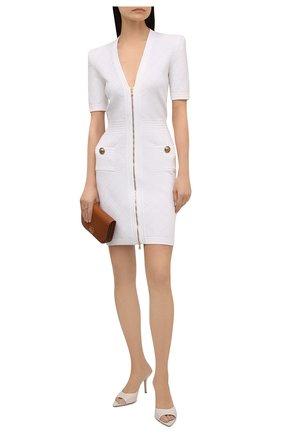 Женское платье из вискозы BALMAIN белого цвета, арт. UF16435/K110   Фото 2