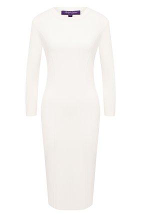 Женское шерстяное платье RALPH LAUREN белого цвета, арт. 290816565 | Фото 1