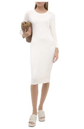 Женское шерстяное платье RALPH LAUREN белого цвета, арт. 290816565 | Фото 2