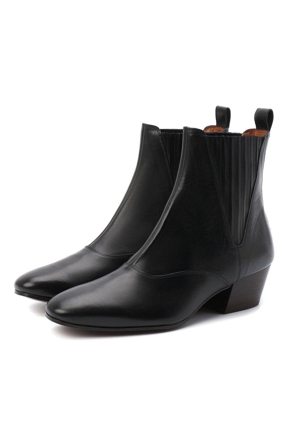 Женские кожаные ботинки JOSEPH черного цвета, арт. J035032A/12012 | Фото 1