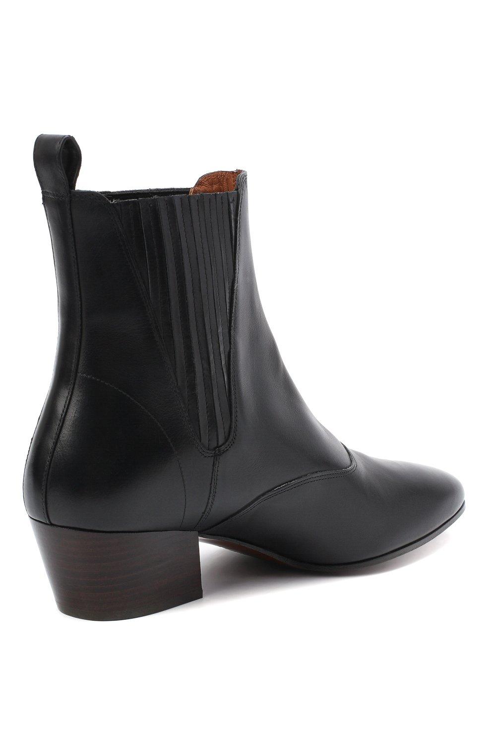 Женские кожаные ботинки JOSEPH черного цвета, арт. J035032A/12012 | Фото 4