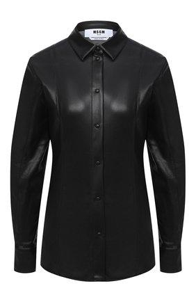 Женская рубашка MSGM черного цвета, арт. 2941MDE19 207652 | Фото 1
