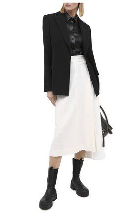 Женская рубашка MSGM черного цвета, арт. 2941MDE19 207652 | Фото 2