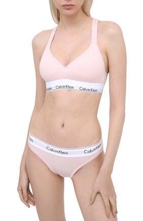 Женские трусы-слипы CALVIN KLEIN розового цвета, арт. F3787E | Фото 2