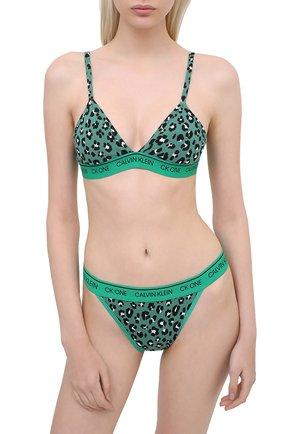 Женские трусы-слипы CALVIN KLEIN зеленого цвета, арт. QF5834E   Фото 2