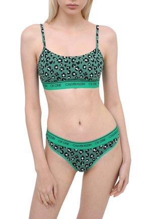Женские трусы-стринги CALVIN KLEIN зеленого цвета, арт. QF5733E   Фото 2