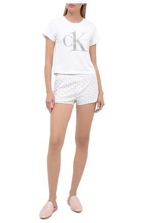 Женская хлопковая пижама CALVIN KLEIN разноцветного цвета, арт. QS6443E | Фото 1