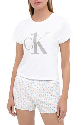Женская хлопковая пижама CALVIN KLEIN разноцветного цвета, арт. QS6443E | Фото 2