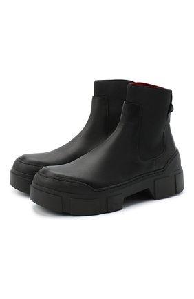 Женские комбинированные ботинки VIC MATIE черного цвета, арт. 1Y5100D.V14C6YT230 | Фото 1