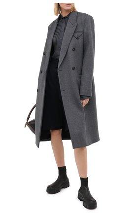 Женские комбинированные ботинки VIC MATIE черного цвета, арт. 1Y5100D.V14C6YT230 | Фото 2