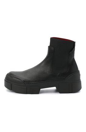 Женские комбинированные ботинки VIC MATIE черного цвета, арт. 1Y5100D.V14C6YT230 | Фото 3
