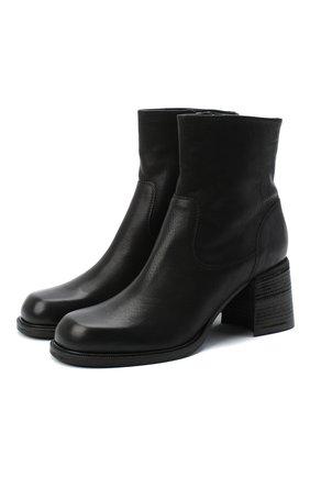 Женские кожаные ботильоны VIC MATIE черного цвета, арт. 1Y5240D.Y18Y060101 | Фото 1