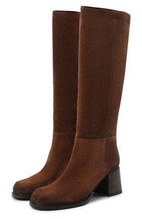 Женские замшевые сапоги VIC MATIE коричневого цвета, арт. 1Y5246D.Y18X050335 | Фото 1