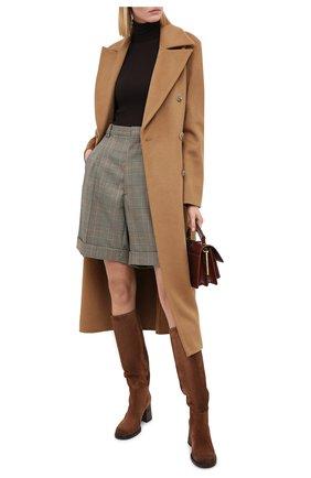 Женские замшевые сапоги VIC MATIE коричневого цвета, арт. 1Y5246D.Y18X050335 | Фото 2