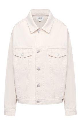 Женская джинсовая куртка AGOLDE белого цвета, арт. A5010-1183 | Фото 1