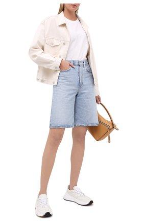Женская джинсовая куртка AGOLDE белого цвета, арт. A5010-1183 | Фото 2