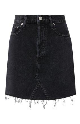 Женская джинсовая юбка AGOLDE серого цвета, арт. A125-1157   Фото 1