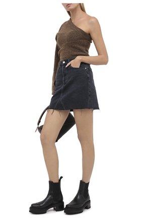 Женская джинсовая юбка AGOLDE серого цвета, арт. A125-1157 | Фото 2
